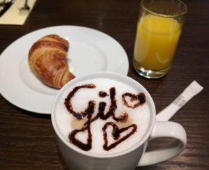 Capuccino with personalized name